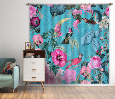 3D Flowers And Birds 059 Andrea haase Curtain Curtains Drapes