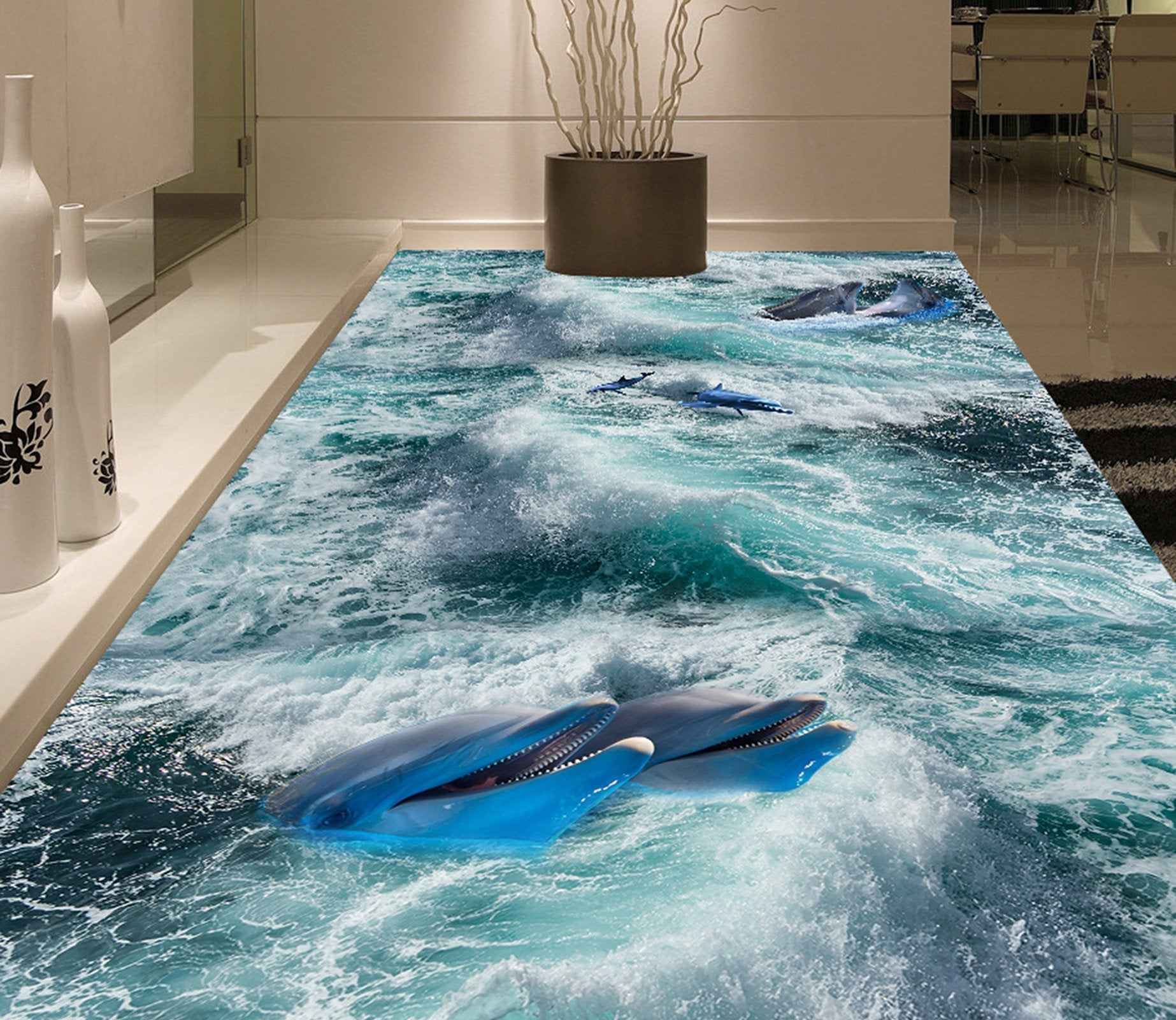 3D Sea Shark WG466 Floor Mural