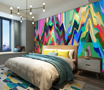 3D Colored Trees 71090 Shandra Smith Wall Mural Wall Murals