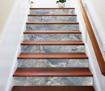 3D Blue Stone Pattern 321 Marble Tile Texture Stair Risers Wallpaper AJ Wallpaper