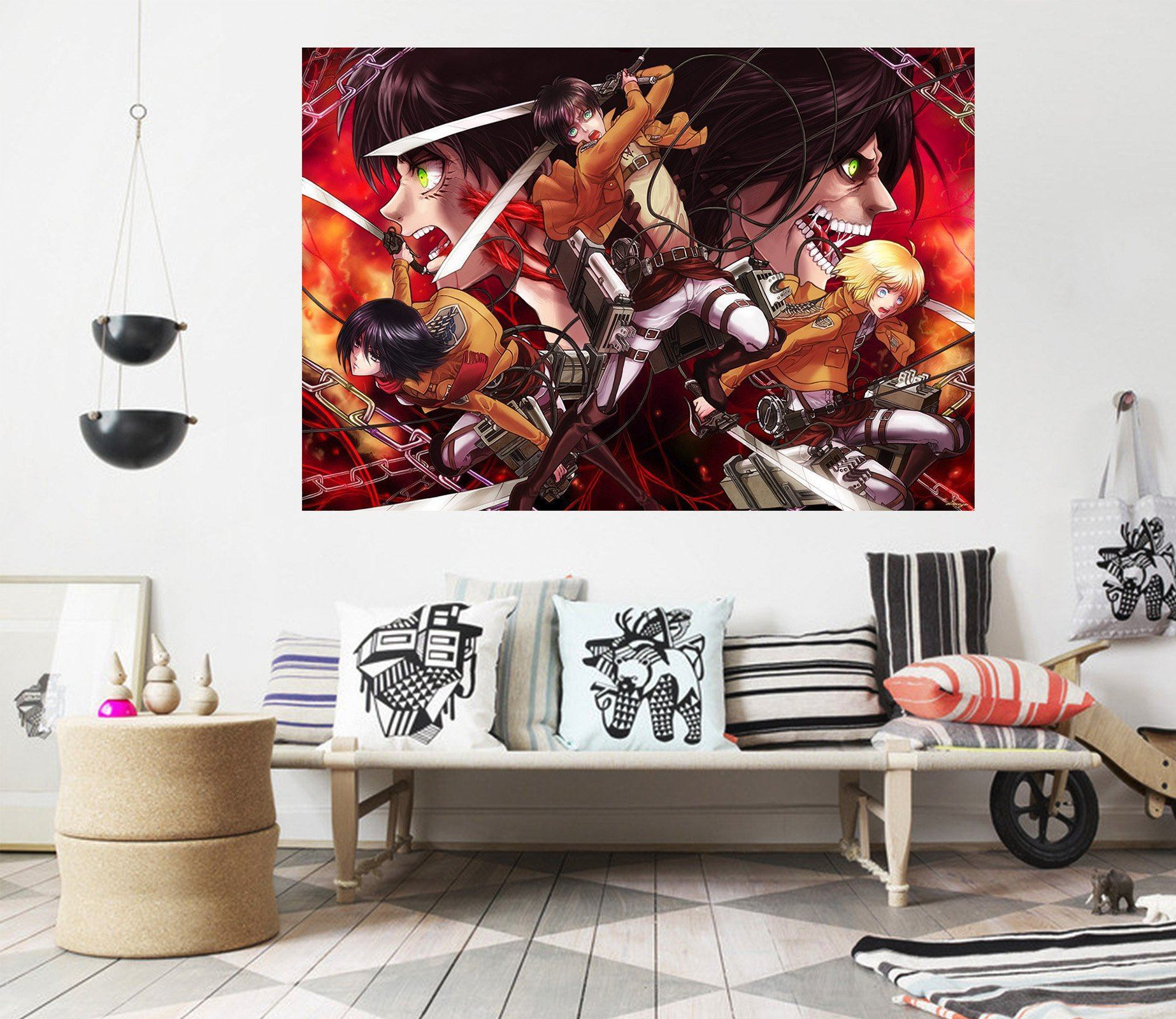 3D Attack On Titan 376 Anime Wall Stickers Wallpaper AJ Wallpaper 2