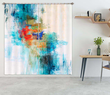 3D Blue Graffiti 206 Michael Tienhaara Curtain Curtains Drapes
