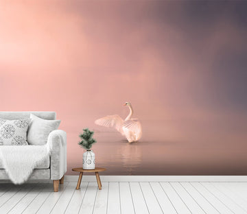 3D Swan Singing 240 Wallpaper AJ Wallpaper