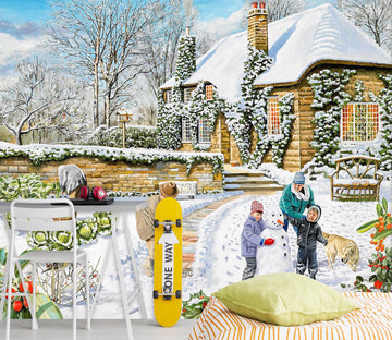 3D A Winter Garden 1003 Trevor Mitchell Wall Mural Wall Murals Wallpaper AJ Wallpaper 2