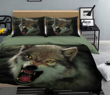 3D Moon Wolf 064 Bed Pillowcases Quilt Exclusive Designer Vincent