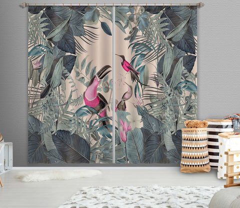 3D Bird Feeding 048 Andrea haase Curtain Curtains Drapes