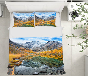 3D Arpy Lake Panorama 007 Marco Carmassi Bedding Bed Pillowcases Quilt