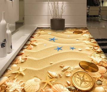 3D Beach Starfish WG059 Floor Mural Wallpaper AJ Wallpaper 2
