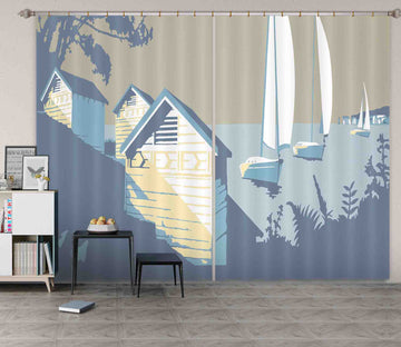 3D Sandbanks And The Purbecks 142 Steve Read Curtain Curtains Drapes