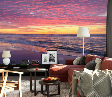 3D Sunset Seaside 79192 Studio MetaFlorica Wall Mural Wall Murals