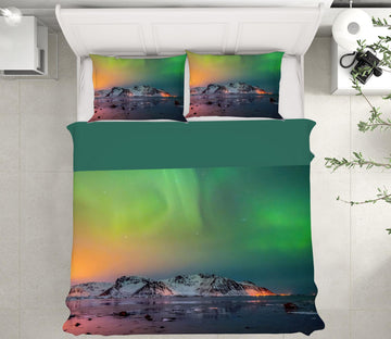 3D Green Aurora 134 Marco Carmassi Bedding Bed Pillowcases Quilt