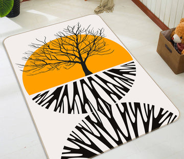 3D Yellow Moon Tree 1135 Boris Draschoff Rug Non Slip Rug Mat