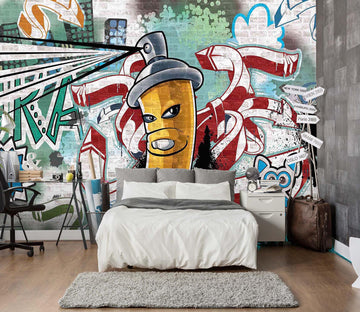 3D Graffiti Spray Can 154 Wall Murals