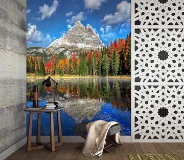 3D Forest Lake 1459 Marco Carmassi Wall Mural Wall Murals