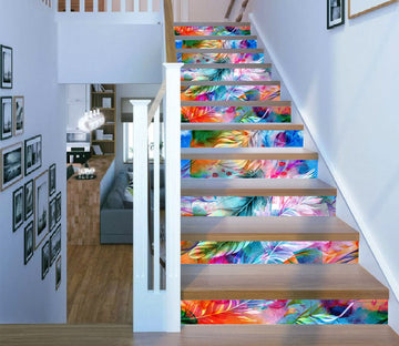 3D Colorful Leaves 2436 Stair Risers Wallpaper AJ Wallpaper