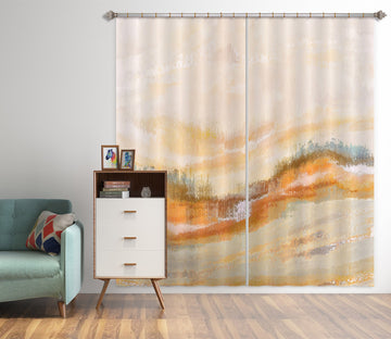 3D Brown Ink Mountain 80187 Studio MetaFlorica Curtain Curtains Drapes