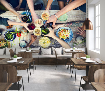 3D Happy Dinner 335 Wall Murals