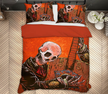 3D Skeleton Player 107 David Lozeau Bedding Bed Pillowcases Quilt