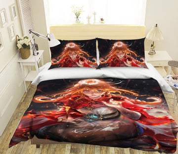 3D Braided Girl 432 CG Anime Bed Pillowcases Duvet Cover Quilt Cover
