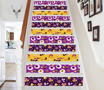 3D Candy Halloween 656 Stair Risers