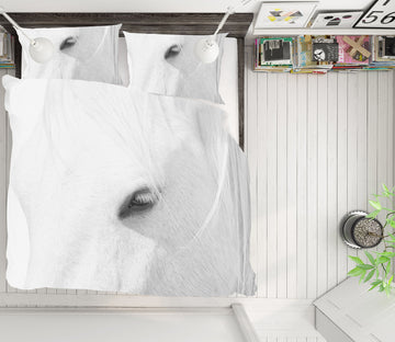 3D White Horse 168 Marco Carmassi Bedding Bed Pillowcases Quilt
