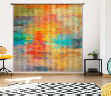 3D Beautiful Sunset 228 Michael Tienhaara Curtain Curtains Drapes