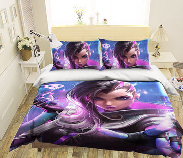 3D High Tech Girl 429 CG Anime Bed Pillowcases Duvet Cover Quilt Cover