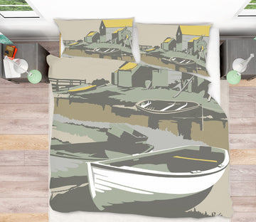 3D Southwold Harbour 2061 Steve Read Bedding Bed Pillowcases Quilt