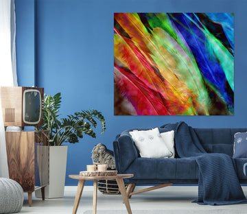3D Colored Feathers 71105 Shandra Smith Wall Sticker