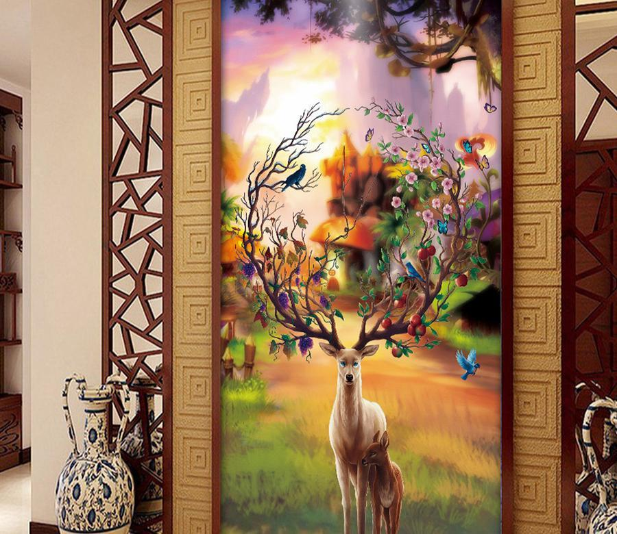 3D Sunlight Elk 551 Wall Murals Wallpaper AJ Wallpaper 2
