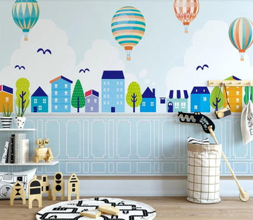 3D Blue Series Fresh Fairy Tale 2597 Wall Murals