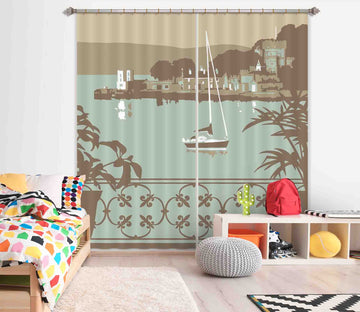 3D Sandbanks Balcony 143 Steve Read Curtain Curtains Drapes