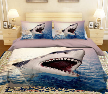 3D Shark Mouth 1928 Bed Pillowcases Quilt