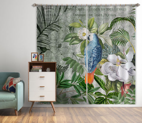 3D Kingdom Of Birds 074 Andrea haase Curtain Curtains Drapes