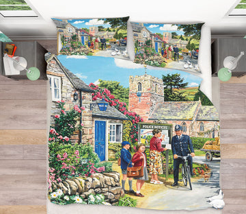 3D The Police House 2064 Trevor Mitchell bedding Bed Pillowcases Quilt