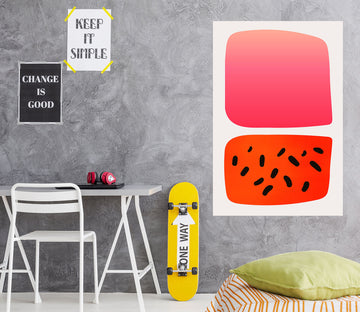 3D Abstract Watermelon 106 Boris Draschoff Wall Sticker