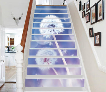 3D Dandelion 3520 Stair Risers Wallpaper AJ Wallpaper