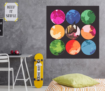 3D Color Circle 71115 Shandra Smith Wall Sticker