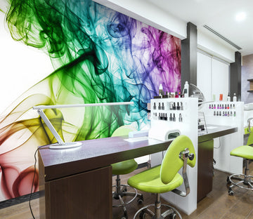 3D Colorful Watercolor 060 Wall Murals