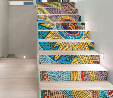 3D Mosaic Pattern 372 Stair Risers Wallpaper AJ Wallpaper