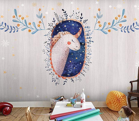 3D Dream Unicorn 332 Wall Murals