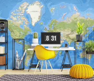 3D Graffiti World Map 1100 Wall Murals