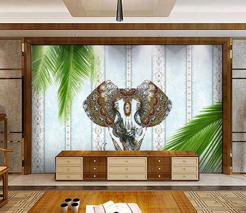3D Abstract Elephant 177 Wall Murals Wallpaper AJ Wallpaper 2