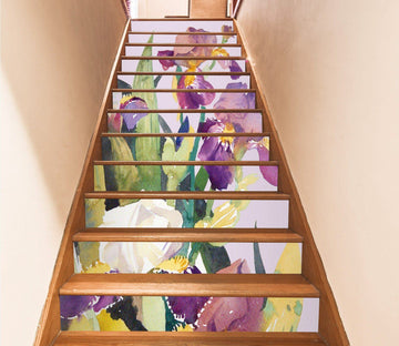 3D Flowers 4426 Stair Risers Wallpaper AJ Wallpaper