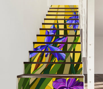 3D Flowers 340 Stair Risers Wallpaper AJ Wallpaper