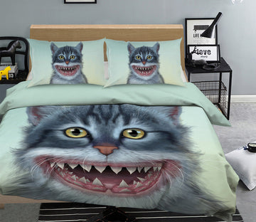 3D Sharkitten 079 Bed Pillowcases Quilt Exclusive Designer Vincent