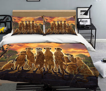 3D Meerkats Def 060 Bed Pillowcases Quilt Exclusive Designer Vincent