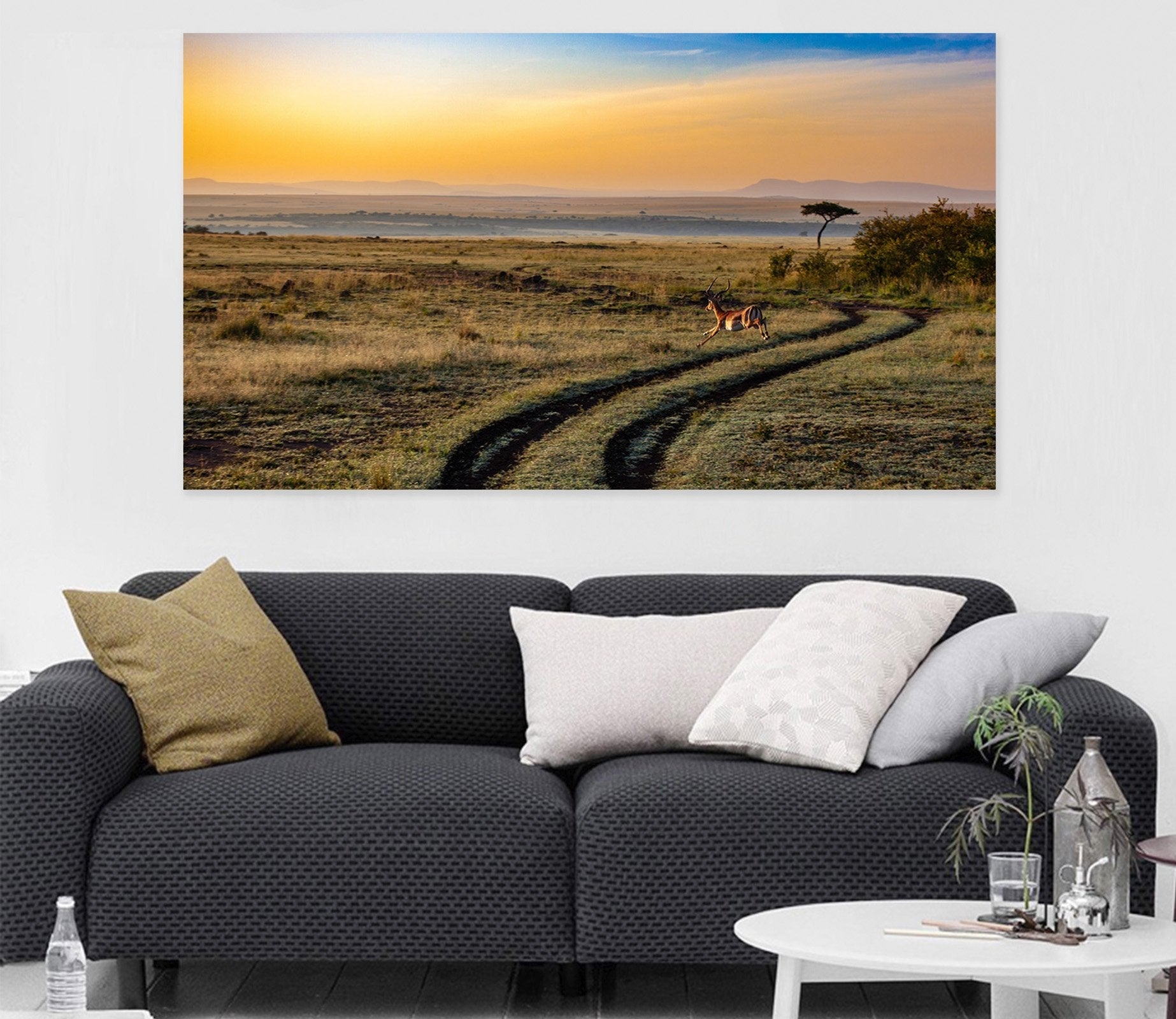 3D Sunset Antelope 29 Animal Wall Stickers