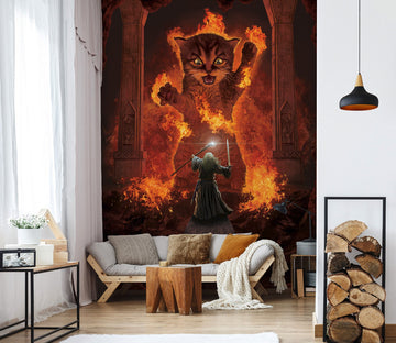 3D Angry Cat 1575 Wall Murals Exclusive Designer Vincent Wallpaper AJ Wallpaper