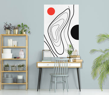 3D Abstract River 186 Boris Draschoff Wall Sticker